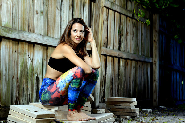 Women's Printed Legging: French Paint