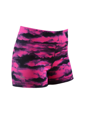 Women's Printed Shorts: Pink Elevation