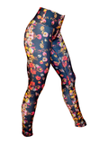 Women's Printed Legging: Rose Romance