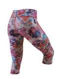 Women's Printed Capri: Bloom