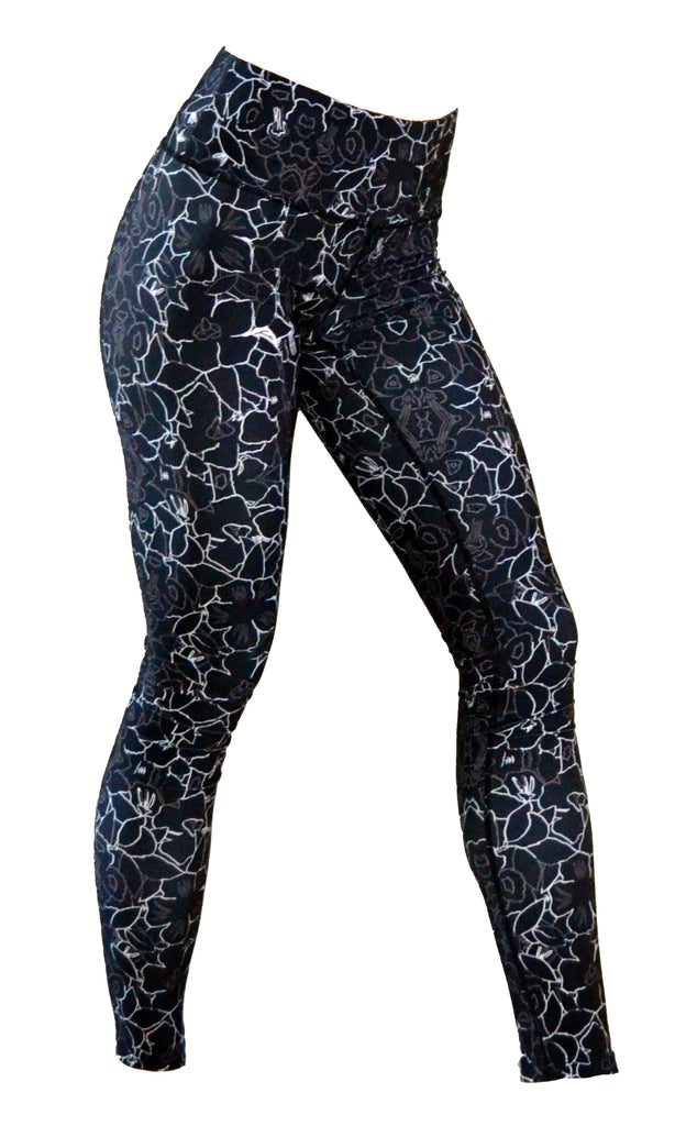 Women's Printed Legging: Moonflower