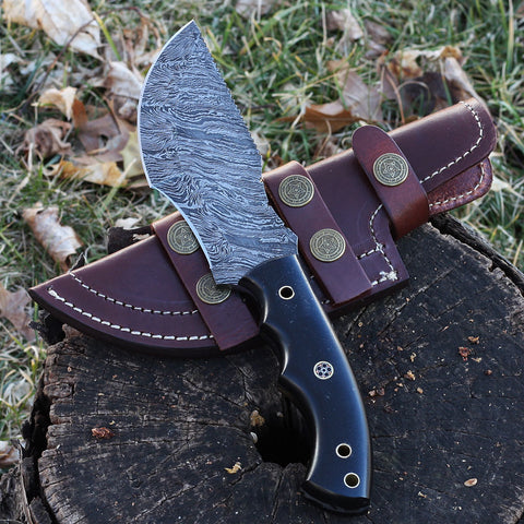 ARLENE Handmade Micarta Tracker Knife (Leather Sheath Included)