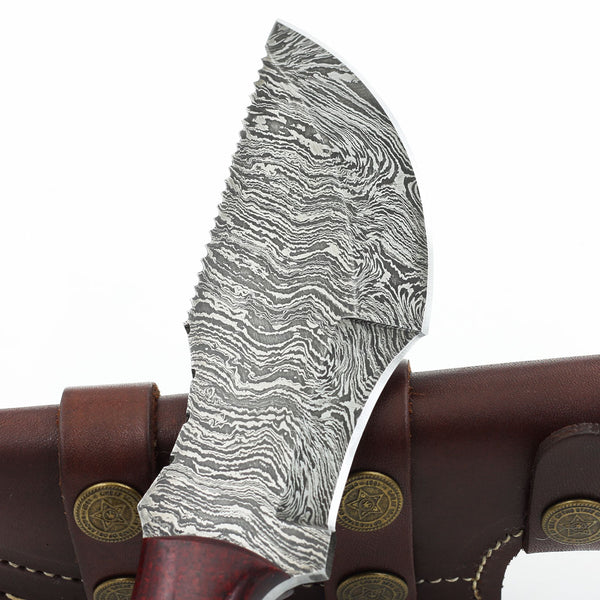 COLBY Custom handmade Damascus steel tracker knife with micarta handle