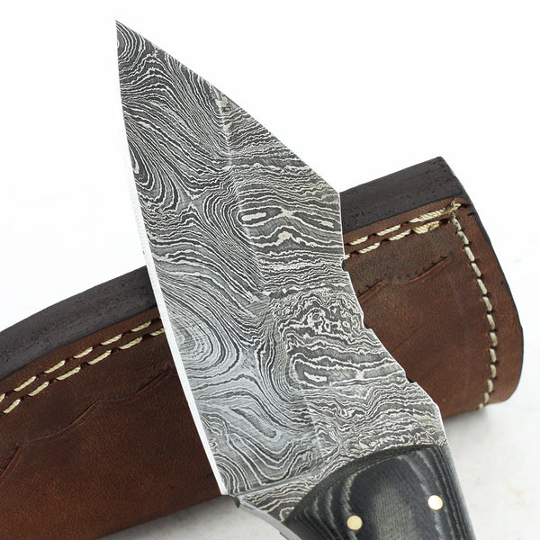 KELSEY Handmade Damascus steel hunting knife with micarta handle