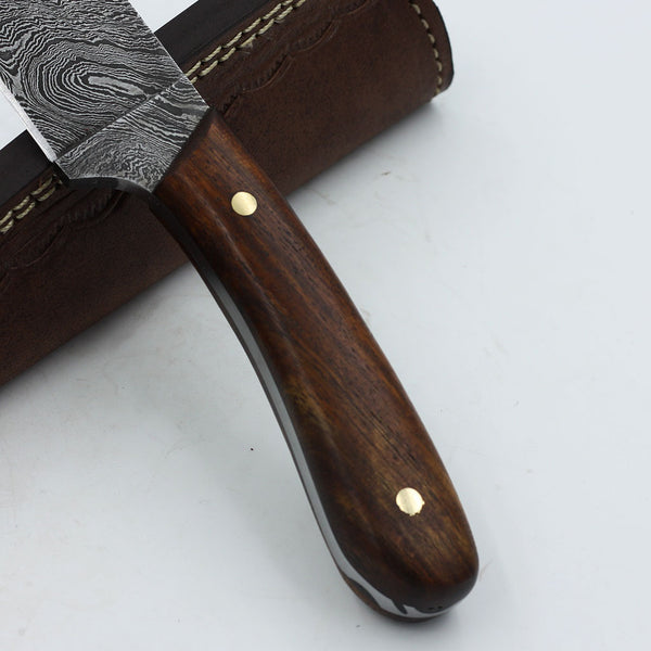 PRUDENCE Handmade Damascus steel fixed blade knife with rosewood handle