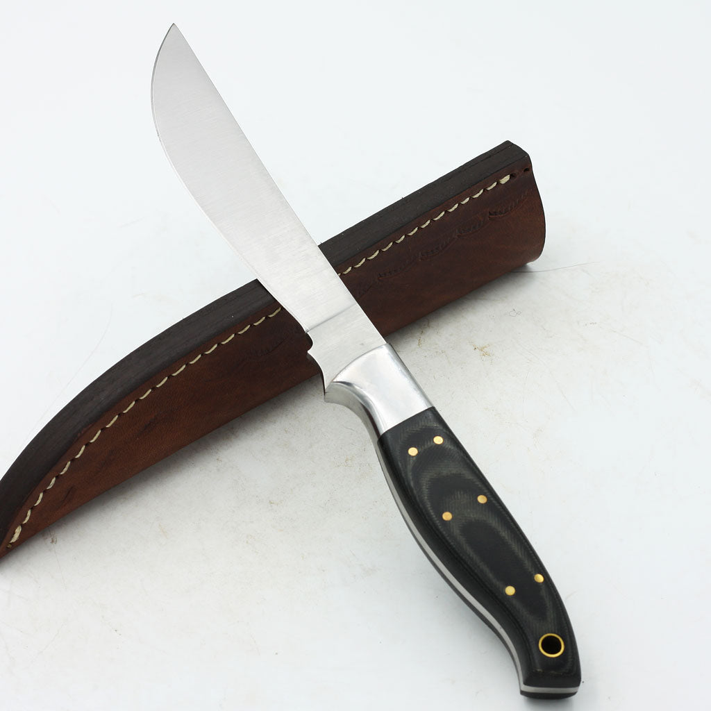 RACHEL Custom Handmade Hunting Knife with Micarta and D2 steel