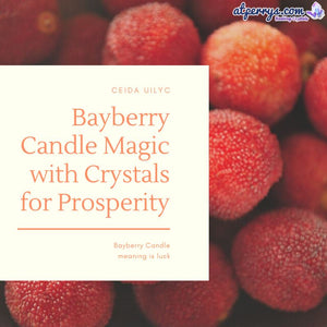 Bayberry Candle Magic with Crystals for Prosperity