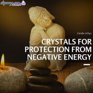 Crystals for Protection from Negative Energy