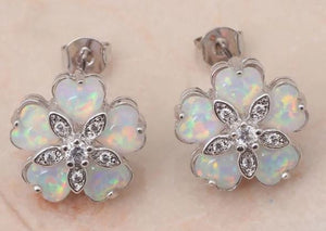 Australian Opal Earrings, Jewelry Sets, Sterling Silver, Studs