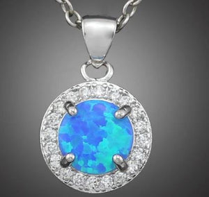 Blue Opal- Jewelry, Rings, Earrings, and Pendants