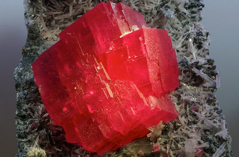 Rhodochrosite in the matrix