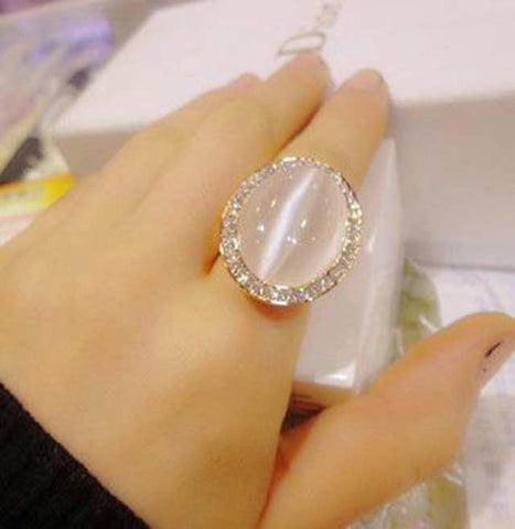 Cat Eye Moonstone Ring