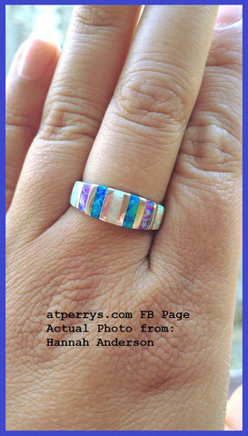 mixed fire opal 925 ring atperrys