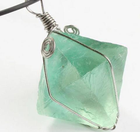 Green Fluorite necklace for men