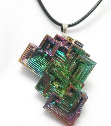 Multi-Color Bismuth Necklace for Guys