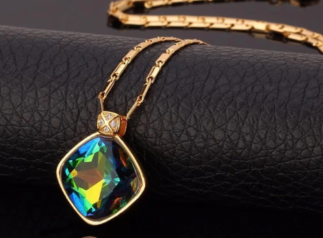 Luxury Mystic Topaz Necklace