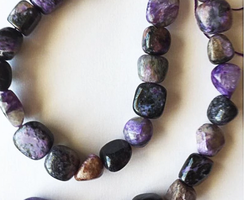 Natural Charoite Crystal Beads