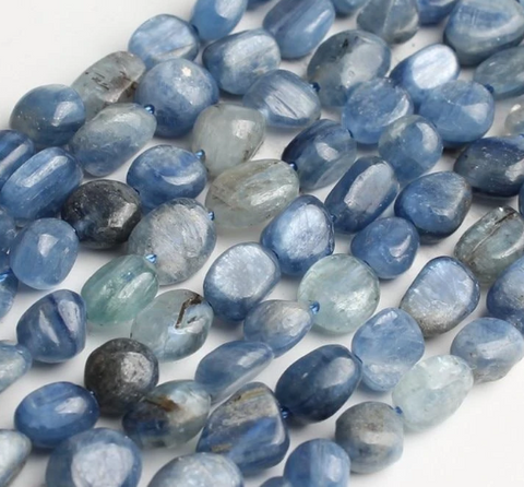 Natural Blue Kyanite Stone Beads