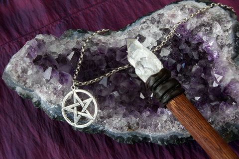 Amethyst Geode and crystal wand