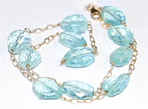 Healing Power of Blue Aquamarine Necklace