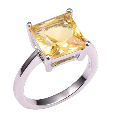 Citrine Ring for Commitment in Geminis