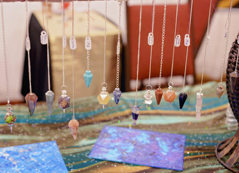 metaphysical store healing crystal pendants david star pendulum