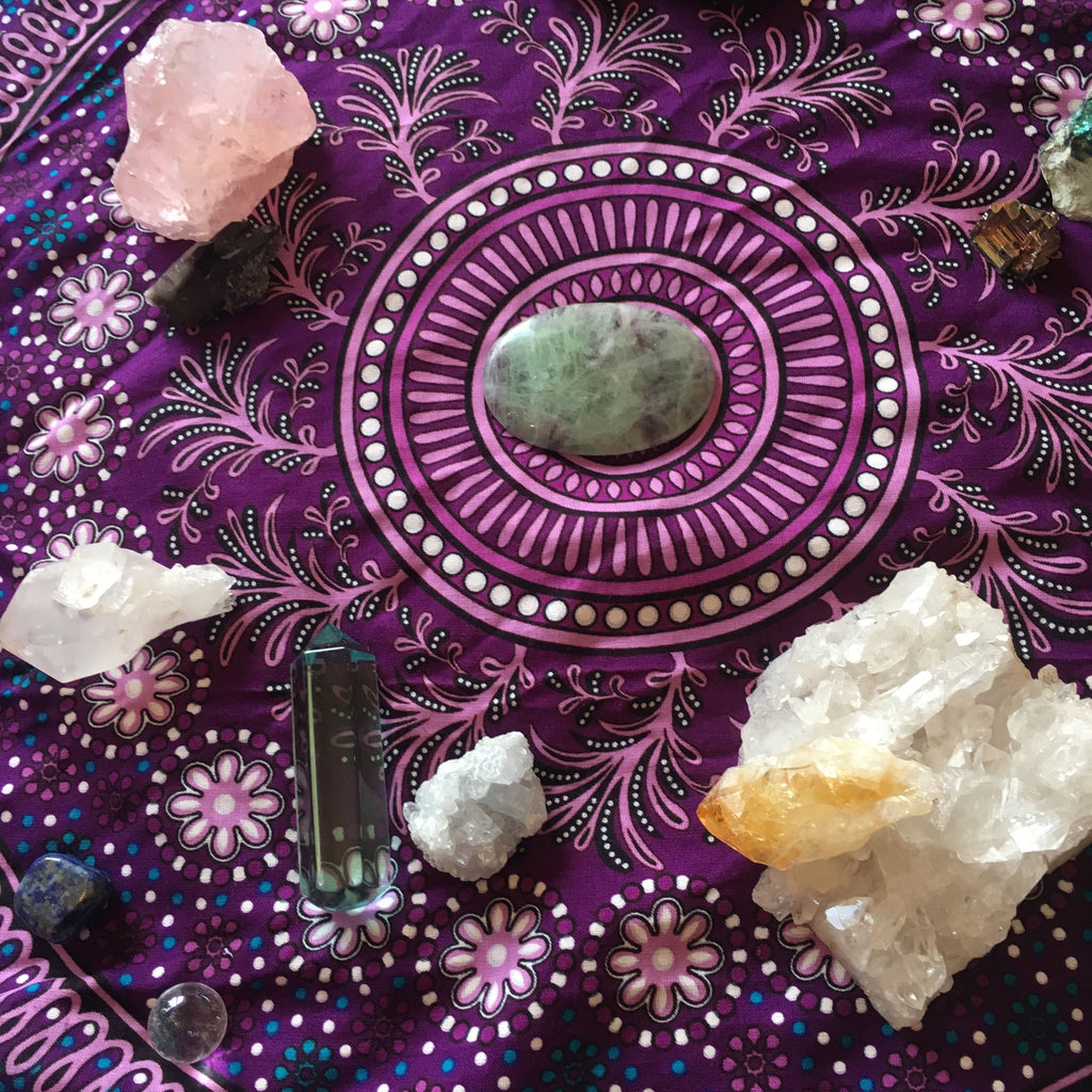 How to Make a Healing Crystals Altar That Spins Magic