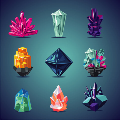 healing crystals graphic