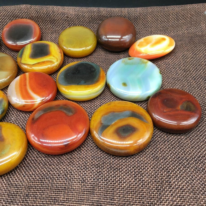 Charming Natural Red Onyx Agate Palm Stones