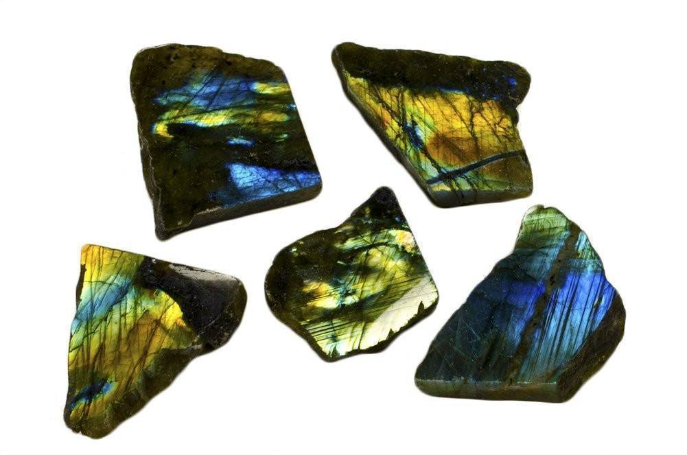 1 pc Natural Polished Labradorite Stone Slab from Madagascar (Shipping to US only) - AtPerrys Healing Crystals - 1