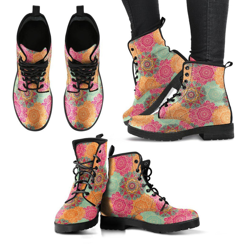 Henna Chakra Handcrafted Leather Boots