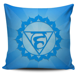 Throat Chakra Pillow Cover