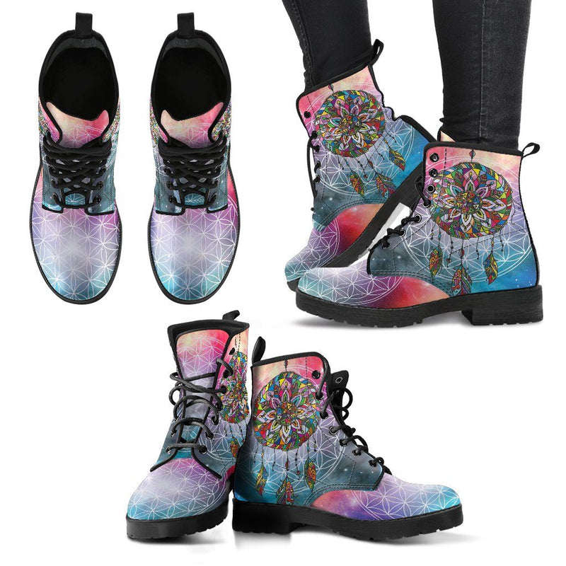 Chakra Dream Catcher Handcrafted Leather Boots