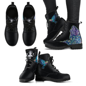 The Crystal & The hummingbird - Handcrafted Leather BootsWomen's Leather Boots - The Crystal & The hummingbird - Vegan Women's BootsUS5 (EU35)