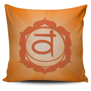 Sacral Chakra Pillow Cover