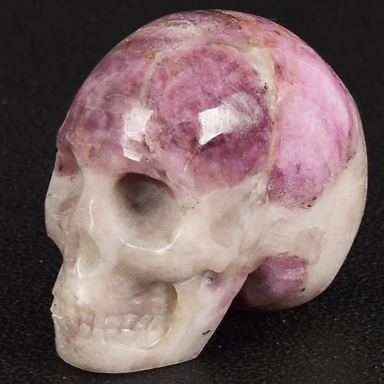 Natural Lepidolite Crystal Skull - atperry's healing crystals