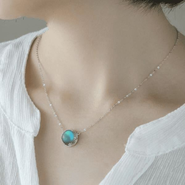 Halo Opal Necklace - Sterling Silver - atperry's healing crystals