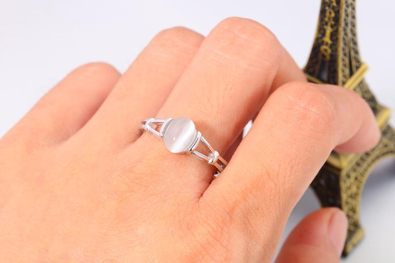 Moonstone Silver Ring - Sterling SilverRing