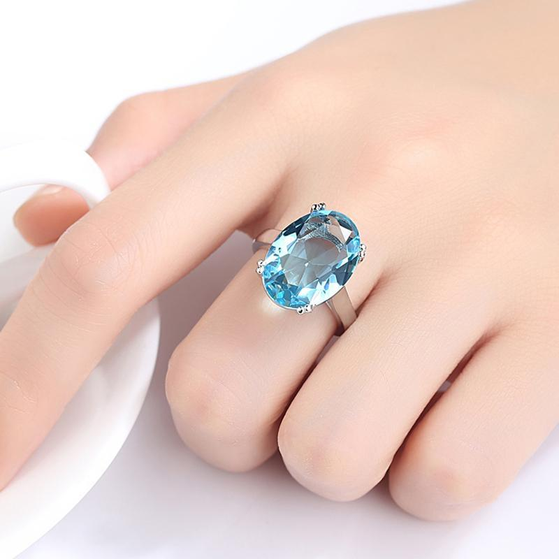 Gorgeous Aquamarine Silver Plated RingRing