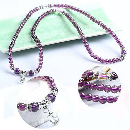 Amethyst Buddhist Bracelet/Necklace - 108 Prayer BeadsBracelet