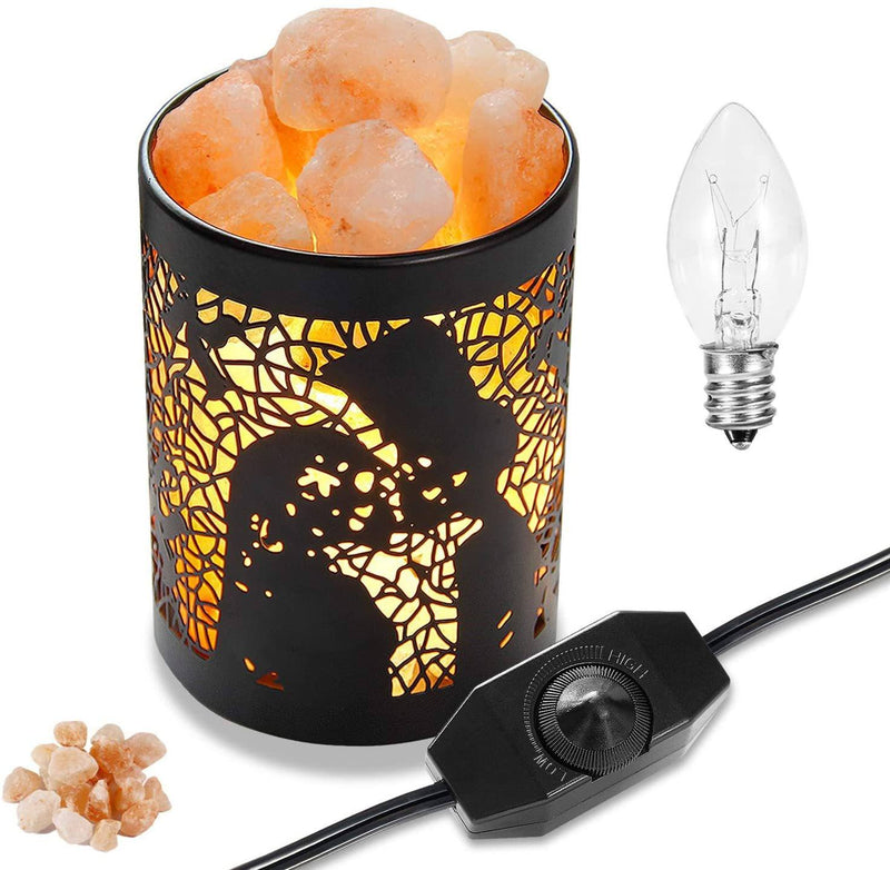 Himalayan Relaxing Pink Salt Lamp in Metal Basket (Shipping to USA only)Salt Lamp