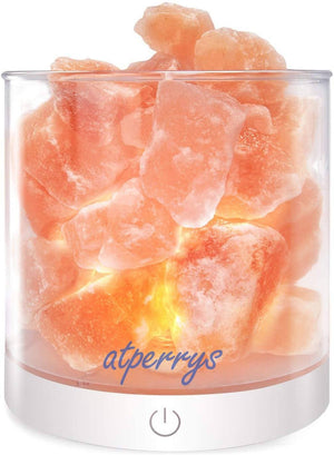 Unique USB Himalayan Salt Lamp Night Light with Touch Dimmer Switch (Shipping to USA only)Salt Lamp