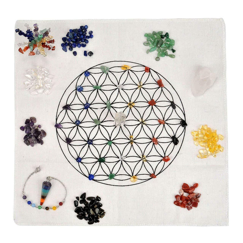 7 Chakra Healing Crystal Grid Kit - atperry's healing crystals