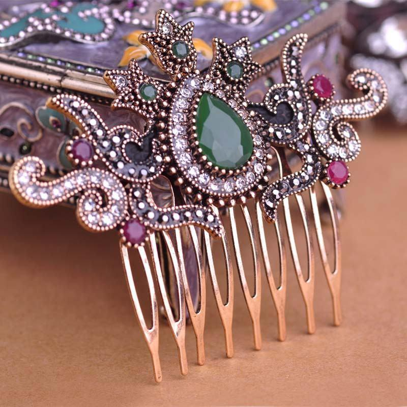 Vintage Crystal Women Hair CombHair Comb