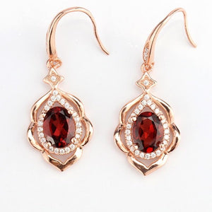 Natural Red Garnet Earrings - atperry's healing crystals