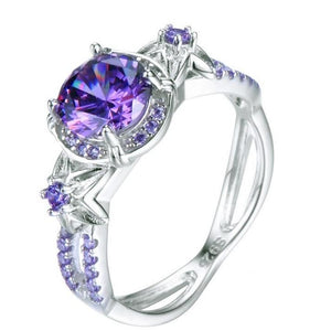 100% Genuine Alexandrite Birthstone Ring - 925 Sterling Silver - atperry's healing crystals