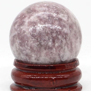 100% Natural Lepidolite Ball Crystal - atperry's healing crystals