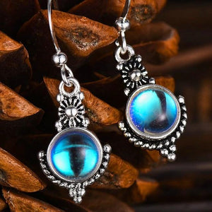 Bohemian Moonstone Drop Earrings - 925 Sterling SilverEarrings