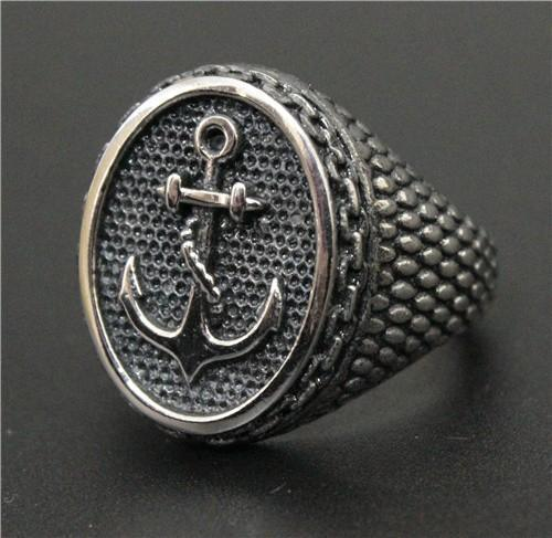 Gold Plated & Silver Anchor Ring - atperry's healing crystals