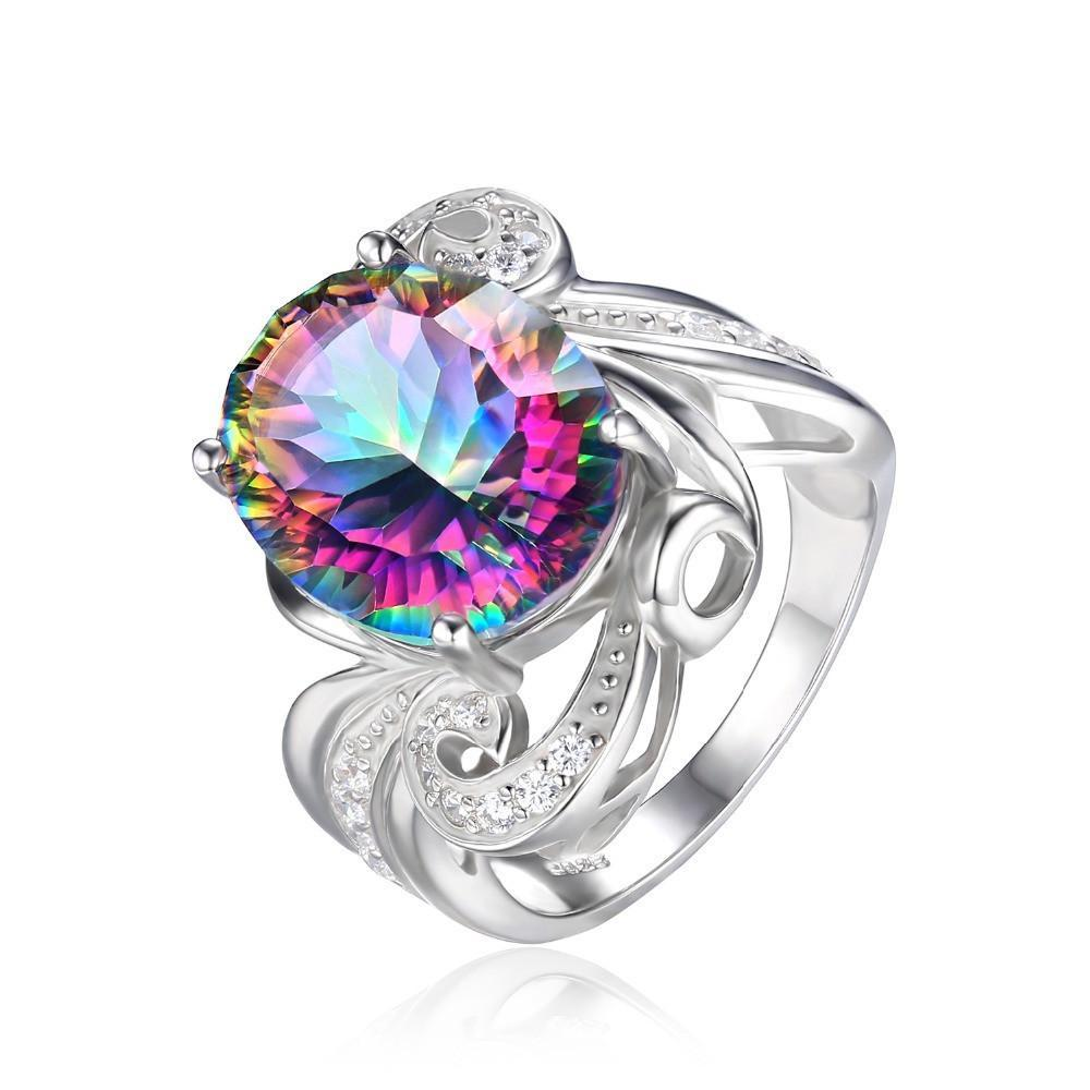 jewelry unique mystic jewelrypalae topaz mens silver ring sterling products gem pure stone fire collections rings solid fashion rainbow fine size genuine